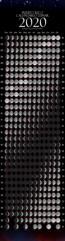 Calendario Lunar 2020 (Puerto Rico)